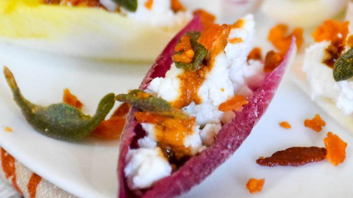 Crispy Sage and Prosciutto Endive Appetizers