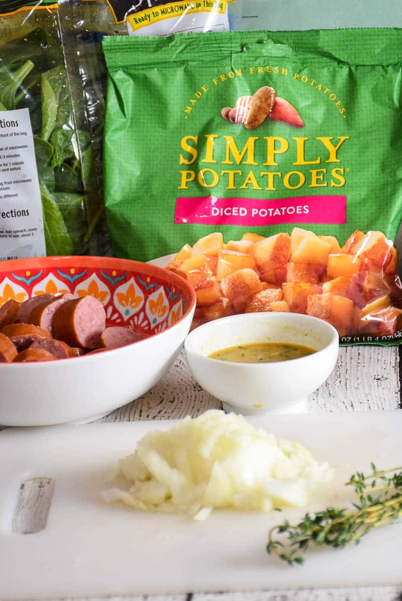 Potato Kielbasa Skillet_