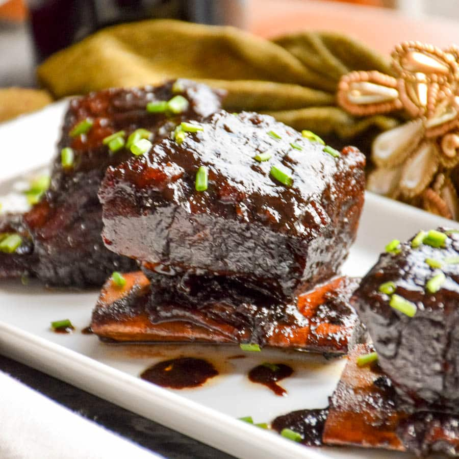 Sweet Chili Wine Braised Short Rib Appetizers