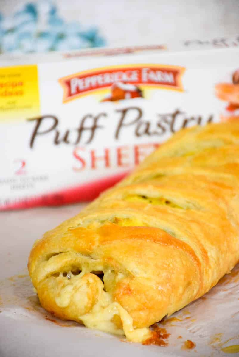 Asparagus Bacon Egg and Cheese Strudel