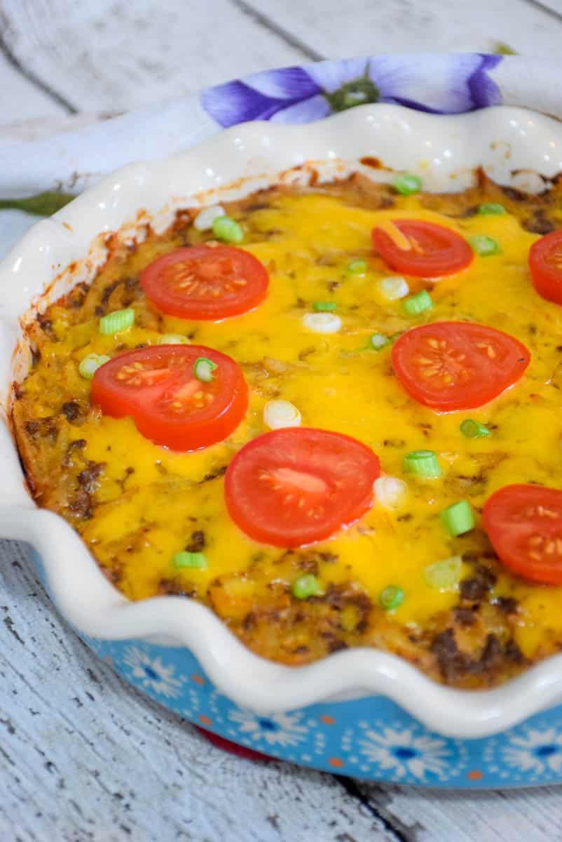 Hash Brown Taco Pie