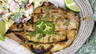 Cilantro Lime Grilled Pork Chops – Keto Recipe