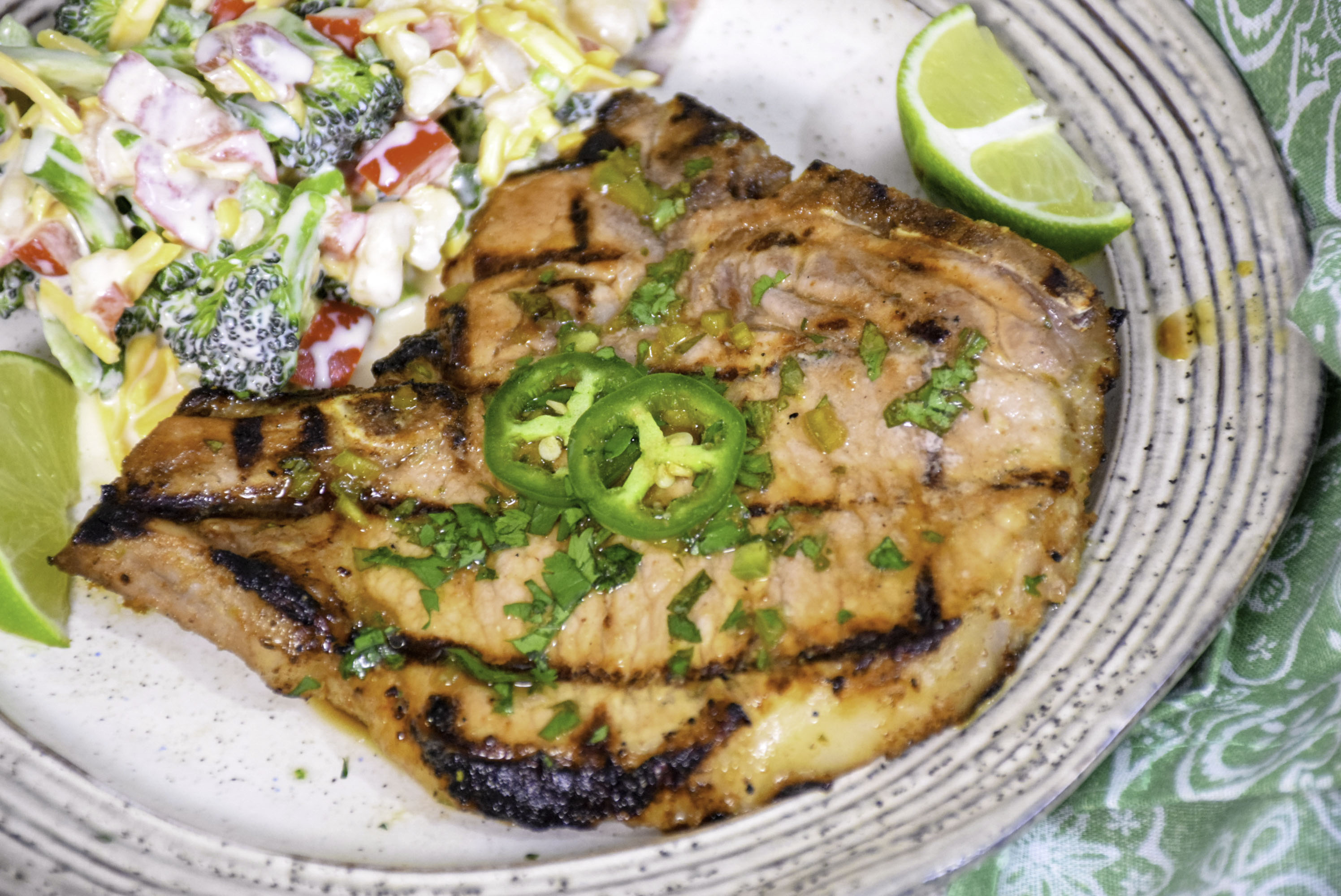 Cilantro Lime Grilled Pork Chops – Keto Recipe