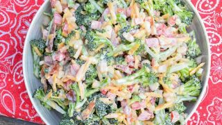 Broccoli Salad with Bacon and Jalapeno