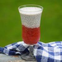 Strawberry Rhubarb Chia Pudding - Keto Recipe