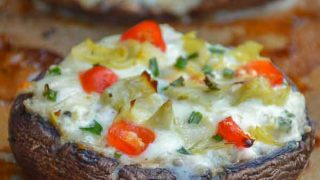 Grilled Chicken Artichoke Portobello Pizza