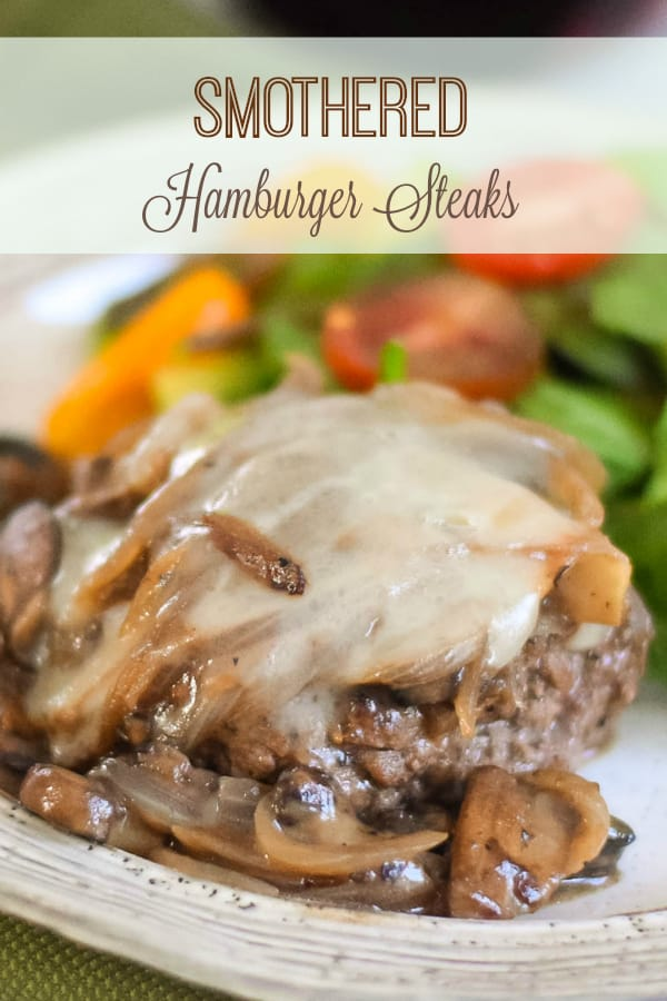 Smothered Hamburger Steaks #BestAngusBeef #steakholder #CertifiedAngusBeef #comfortfood #gravy #lowcarb