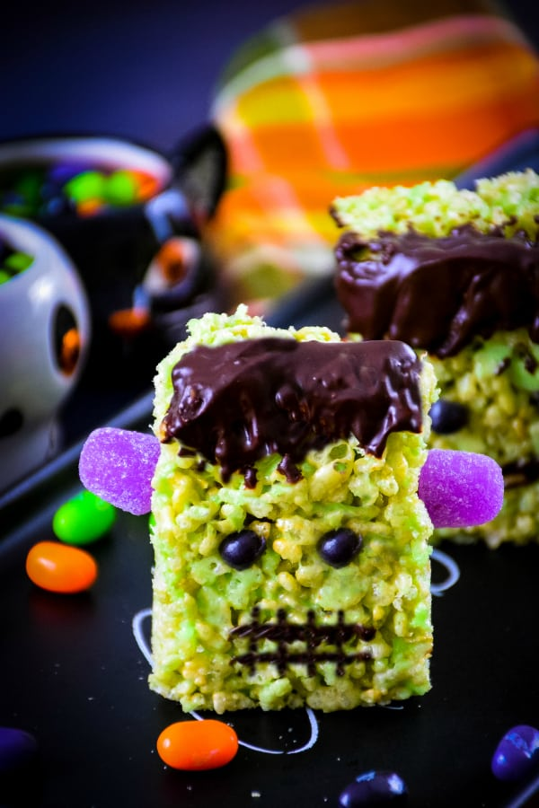 Frankenstein Rice Krispie Treats - Grumpy\'s Honey Bunch