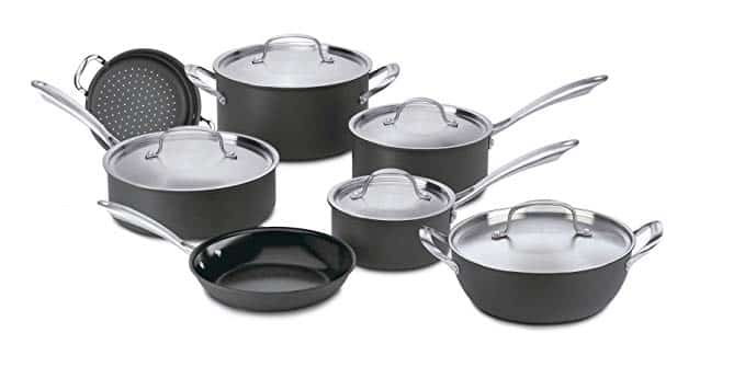 Cuisinart GG-12 GreenGourmet Hard-Anodized Nonstick 12-Piece Cookware Set