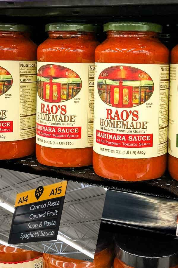 Rao's Walmart Instore Photo