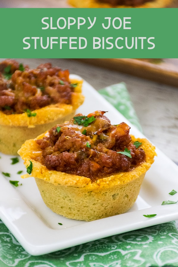Low Carbohydrate Sloppy Joe Stuffed Biscuit