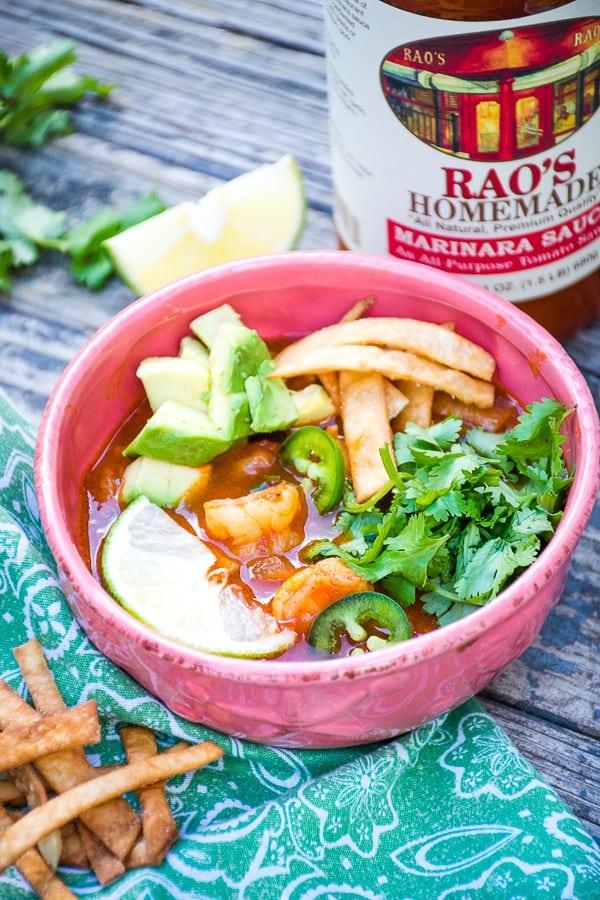 Spicy Shrimp Tortilla Soup