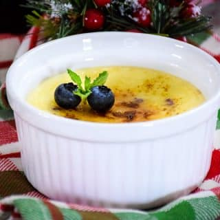 Keto Blueberry Creme Brulee