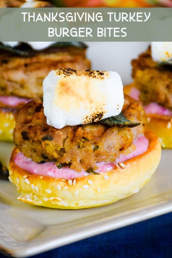 Thanksgiving Turkey Burger Bites #groundturkey #thanksgiving #leftovers #sliders