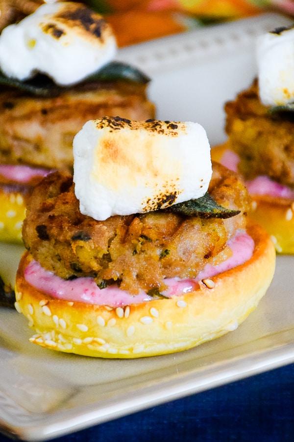 Thanksgiving Turkey Burger Bites