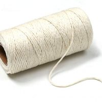Penta Angel 100 Yards White DIY Craft Decoration Kitchen Natural Cotton Cooking Twine Food Packaging String for Trussing and Tying Poultry Meat Making Sausage