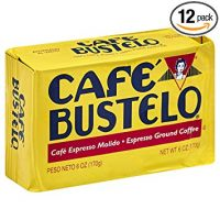 Cafe Bustelo Espresso Coffee, 6 Ounce Bricks (Pack of 12)