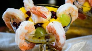 Champagne Marinated Shrimp and Fruit Salad