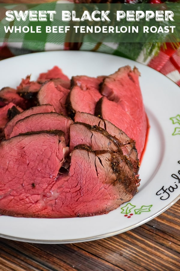 Sweet Black Pepper Whole Beef Tenderloin Slices