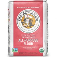 King Arthur Flour 100% Organic Unbleached All-Purpose Flour, 80 Ounce