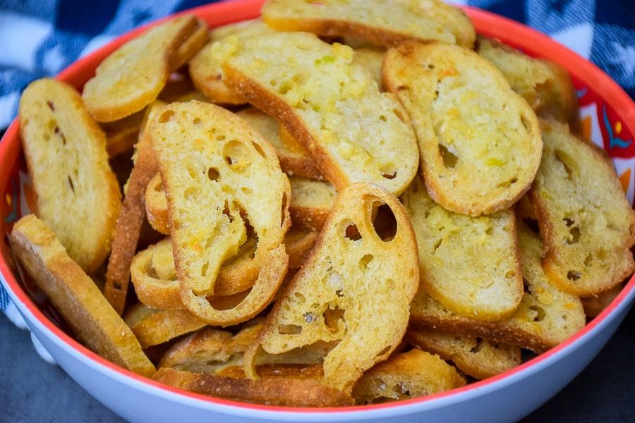 Buttery Garlic Bread Chips