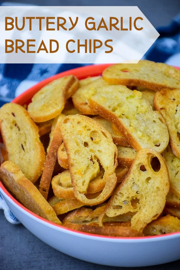 Buttery Garlic Bread Chips