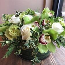 Floral arrangement by Albany florist Fleurtacious Designs