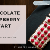 Chocolate Raspberry Tart — Low Carb Without Sweetener