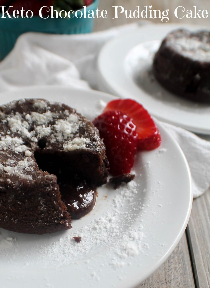 Chocolate Pudding Cake #keto #glutenfree #lowcarb #sugarfree #cake #dessert