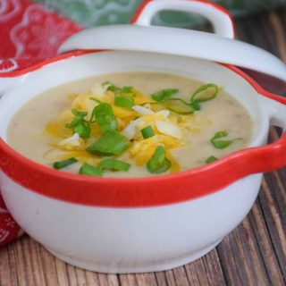 Cheesy Cauliflower Soup - Instant Pot Recipe