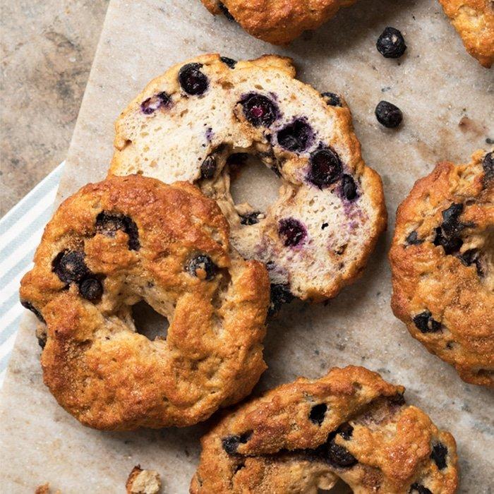 Bursting Blueberry Bagels 🍞☀️ gluten free, keto & paleo