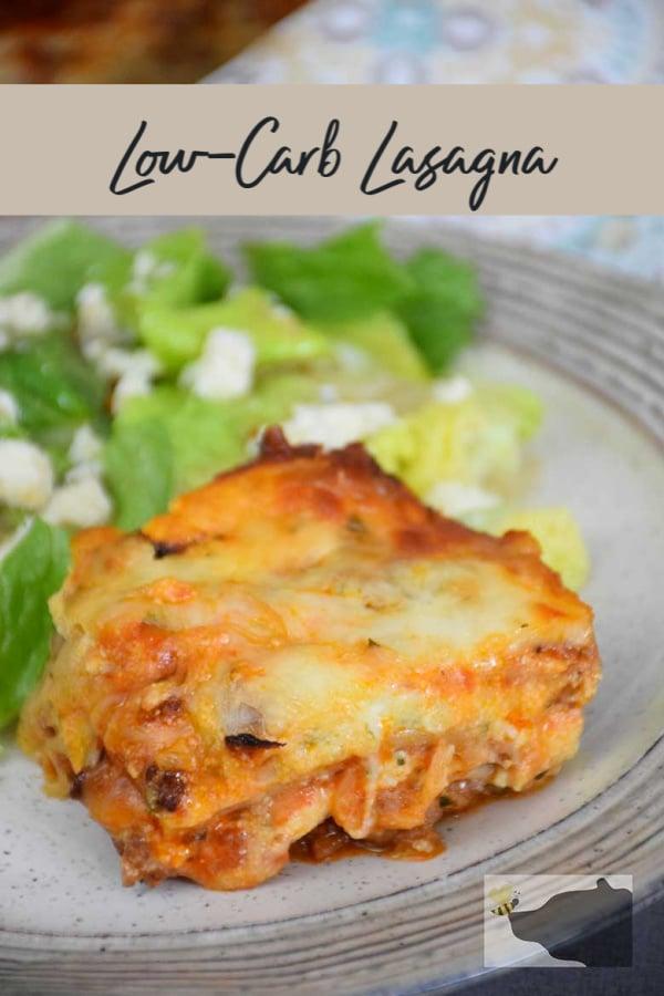 Low Carb Lasagna - a keto version of an Italian Classic recipe. #lowcarb #lasagna #homemade #comfortfood #ketocomfortfood #italian