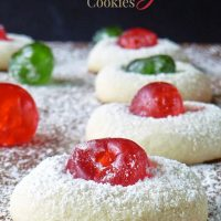 Candied Cherry Cookies