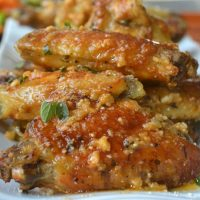 Crispy Baked Parmesan Garlic Wings