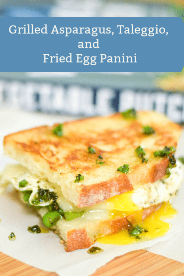 Grilled Asparagus, Taleggio, and Fried Egg Panini #grilled #sandwich #grilledcheese #egg #eggsandwich