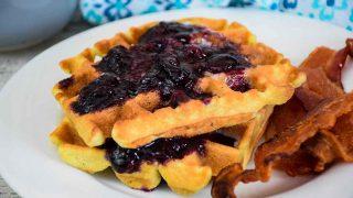 Blueberry Waffles - Keto Recipe
