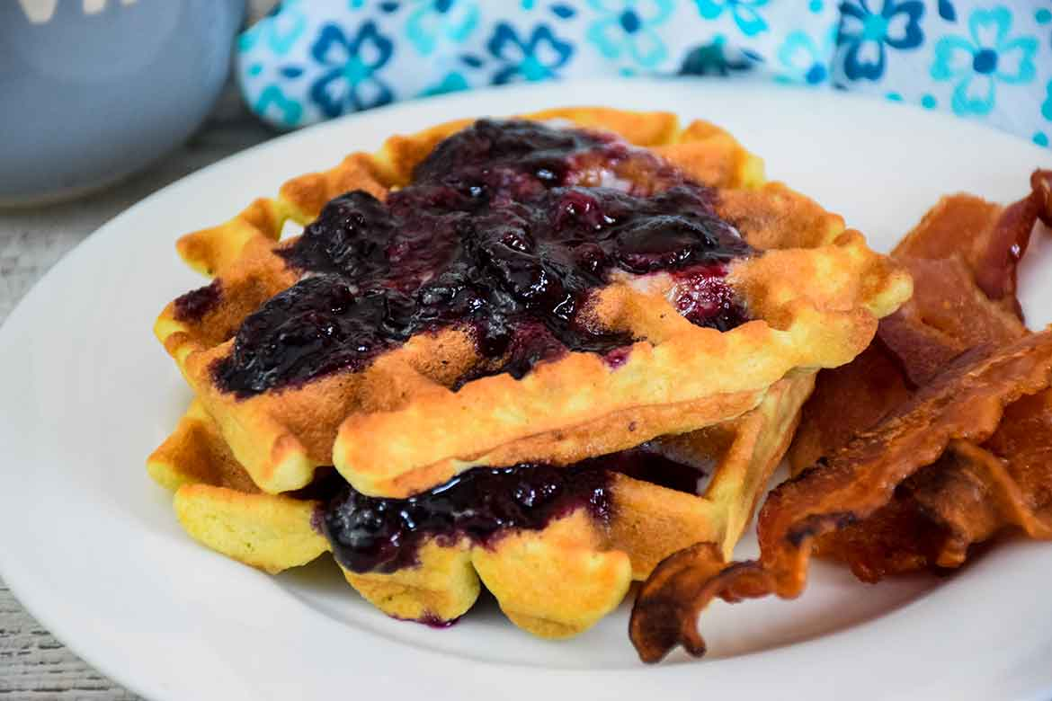Blueberry Waffles – Keto Recipe