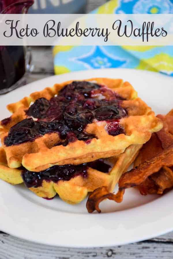 Keto Blueberry Waffles #lowcarb #coconutflour #blueberry #waffles