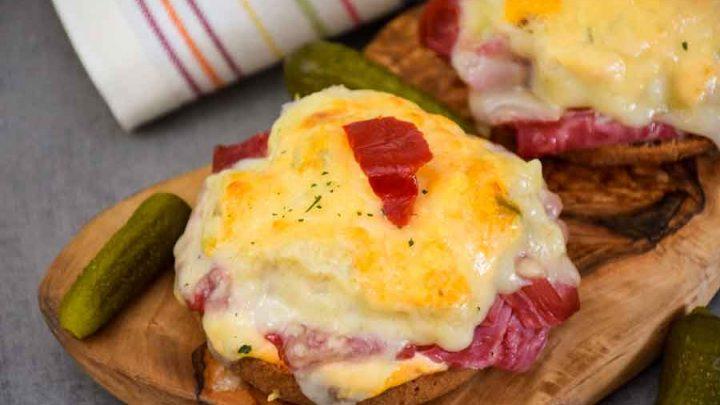 Keto Reuben - Open Faced Sandwich