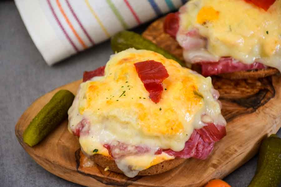 Keto Reuben – Open Faced Bagel Sandwich