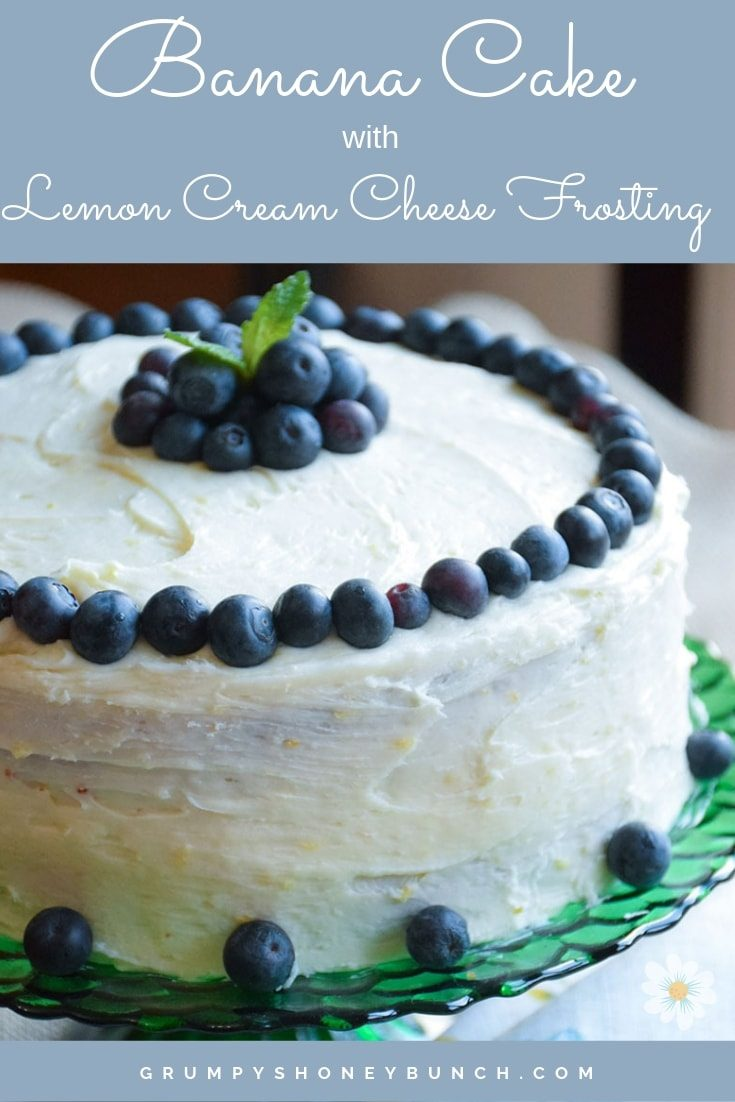 Banana Cake with Lemon Cream Cheese Frosting