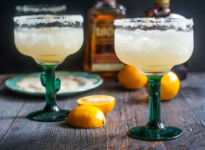 Simple Meyer Lemon Margaritas #SundaySupper