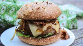 Chipotle Beef Burger Recipe with Crispy Shallots
