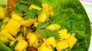 Cod Fish Tacos with Spicy Mango Salsa