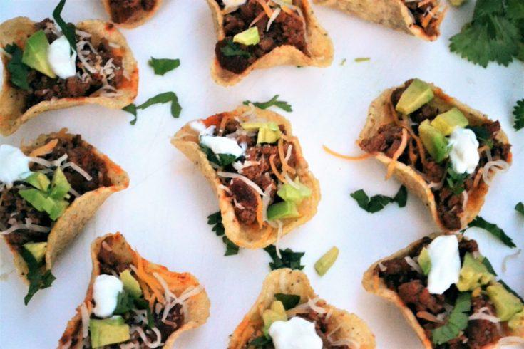 Mini Taco Bowl Bites - Appetizer Recipe