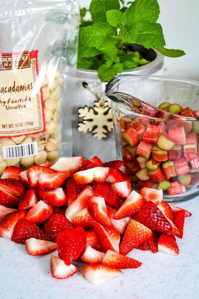 ingredients for Strawberry Rhubarb Salad Recipe