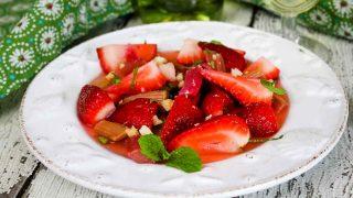 Strawberry Rhubarb Salad