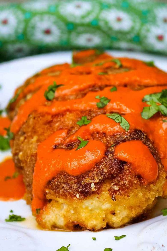 Blue Cheese Stuffed Chicken with Buffalo Sauce