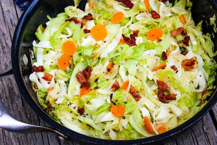 Cabbage Noodles with Bacon