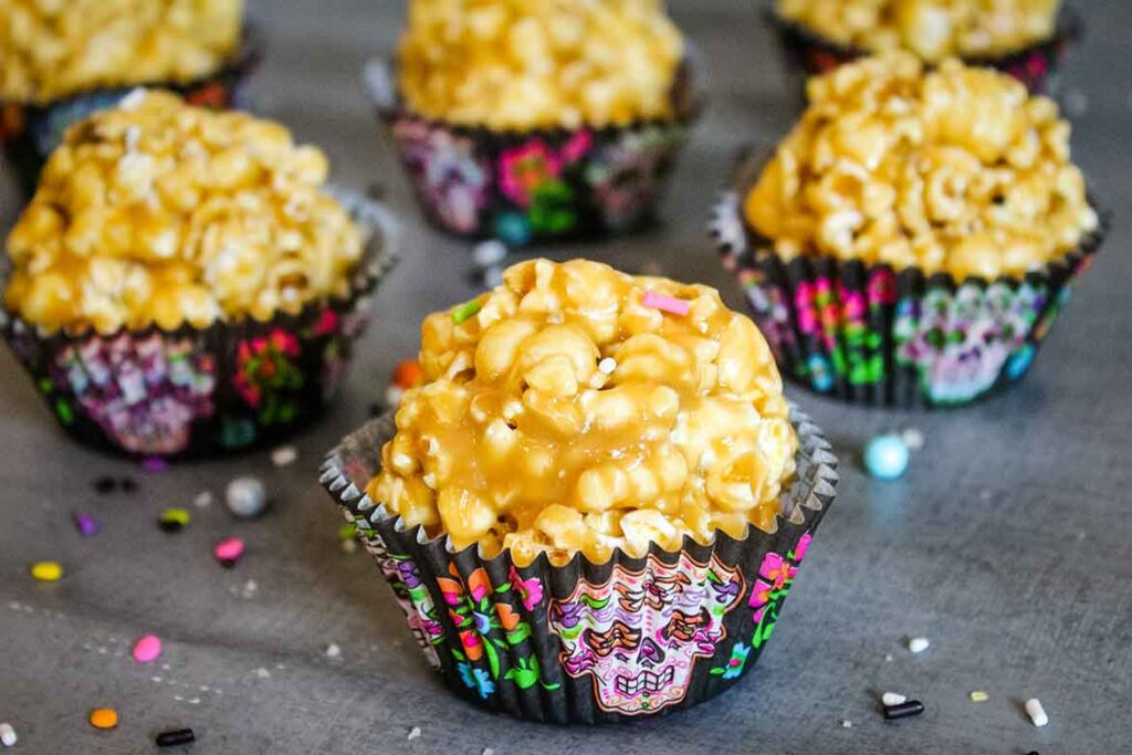 Sweet and Salty Caramel Popcorn Balls